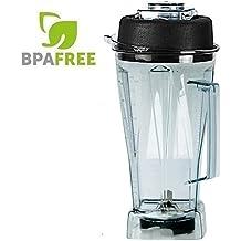 JTC OmniBlend Ersatzbehälter 2 Liter Version BPA-frei, auch YaYago, Vitamix 5200, SARO Tom