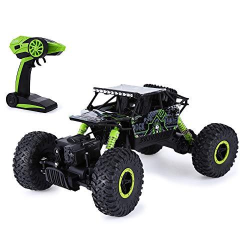 HB RC Car Car Remote Control 2.4GHz Scala 1:18 4WD A quattro ruote Auto Off Road Toy Remote Control Racing per Ragazzi (Verde con cavo USB)