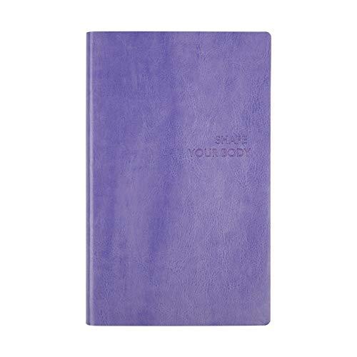 Aosnd Notebook, Notizblock, Body Shaping Management Record Handbuch/Krafttraining Record Buch/Fitness Abnehmen Trainingsprogramm/Lila / 21 * 13cm