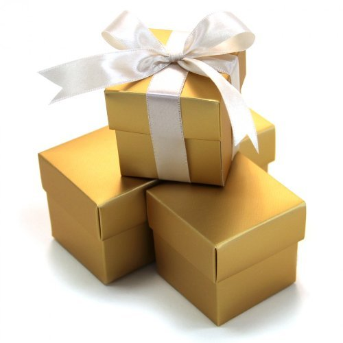ilig 10Quadratisch Favor Boxen, Gold ()