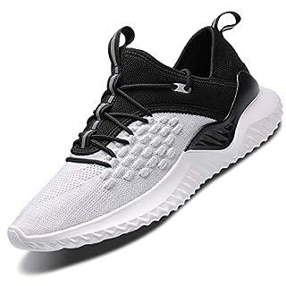 Mabove Laufschuhe Herren Damen Turnschuhe Sportschuhe Straßenlaufschuhe Sneaker Atmungsaktiv Trainer für Running Fitness Gym Outdoor(Weiß/9607,42 EU)
