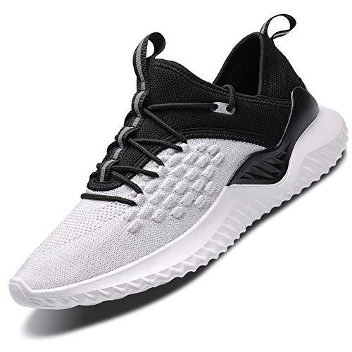 Mabove Laufschuhe Herren Damen Turnschuhe Sportschuhe Straßenlaufschuhe Sneaker Atmungsaktiv Trainer für Running Fitness Gym Outdoor(Weiß/9607,43 EU)