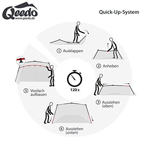 Qeedo Quick Villa 5, Sekundenzelt für 5 Personen, Familien-Zelt mit Stehhöhe - grau - 4