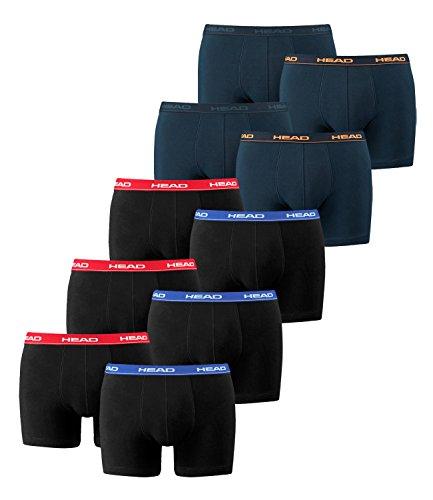 HEAD Men Boxershort 841001001 Basic Boxer 10er Pack 3x2er red/blue / 2x2er peacoat/orange