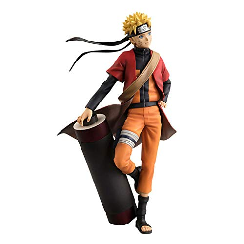 DUDDP Anime Charakter Anime Hand Feuer Schatten Holz Blatt Ninja Whirl Naruto Unsterblich Modus Naruto Scroll Reel Boxed Hand 19 cm Comic-Statue