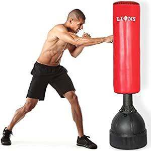 Lions Free Standing 5 5ft Punch Bag Boxing Stand Martial