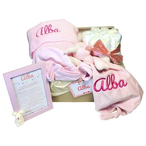 MabyBox Velvet DouDou | Canastilla Bebé Personalizada | Cesta Regalo Recién Nacido...