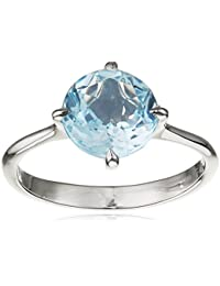 Dinny Hall Blue Topaz and 14ct White Gold Ring
