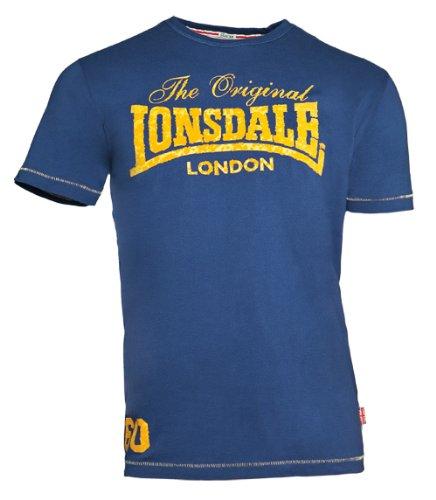 Lonsdale - T-Shirt Trägerhemd Swindon, Maglia a maniche lunghe Uomo, Blu (Marineblau), XS (Taglia Produttore: XS)