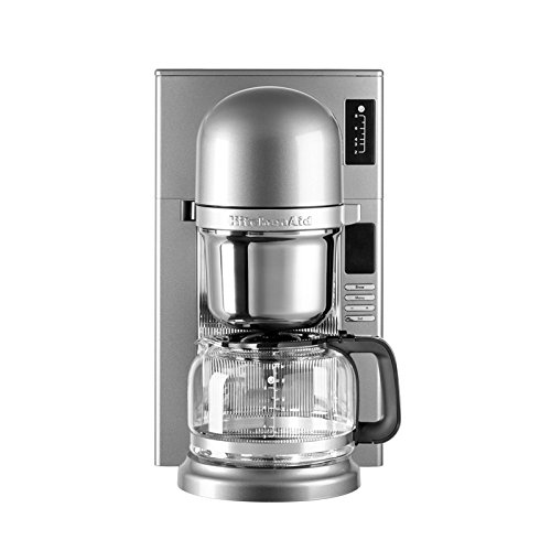 KitchenAid 5KCM0802ECU - Cafetera de filtro, color gris plata