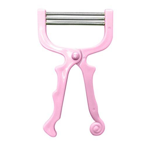Luccase Haarentferner Entfernt Gesichtshaarentfernungs Werkzeug Gesicht Schönheit Werkzeug 3 Epilierer Entfernung Federgewinden für Stirn Wangen Oberlippe Kinn (Rosa)