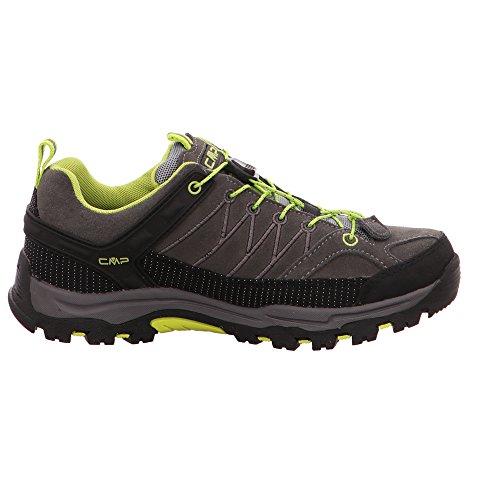 CMP Campagnolo Rigel Low Wp, Chaussures de Randonnée Hautes Mixte Adulte Marron (Teak-asphalt)
