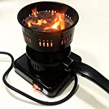 Fiiasa 220v 50HZ 450W Metal Shisha Hookah Coal Burner Electric Stove Heater with Tong Coal Lighter Shisha Plate Burner Hookah Food Warming,Coffee/Tea Making,Baby Food