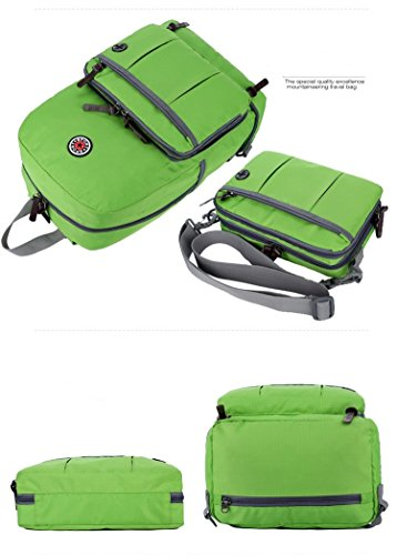 Sunmoch Multifunktions Rucksack Faltbarer Leichte Rucksack Daypack Tasche Beste zum Wandern, Radfahren, Camping, Reisen, Schultasche Handgepäck für mehr Stauraum Grün