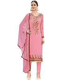 ETHNIC EMPORIUM Pink Salwar Kameez Vestido de Mujer musulmán de la India Bollywood Shalwar Rakhi Eid