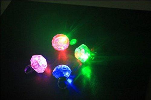 mant LED Farbwechsel Glow Ring Neuheit Flash Ringe Licht für Kinder / Veranstaltungen / Party / Geburtstag Dekore Gefälligkeiten (40 Geburtstag Gefälligkeiten)