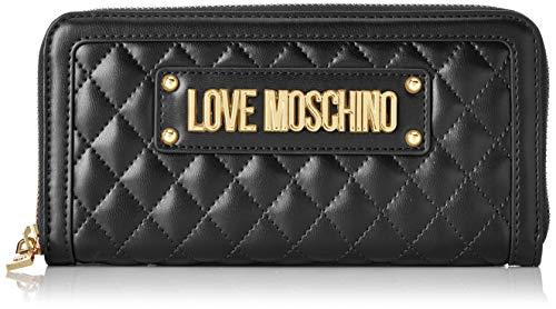 Love Moschino Portafogli Quilted Nappa Pu, Donna, (Nero), 2x10x19 cm (W x H x L)