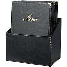 Box portamenù Securit - A4 - nero - MC-BOX-CRA4-BL (conf.20)