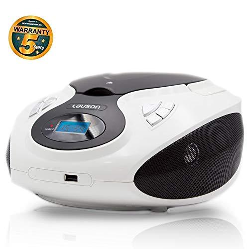 Lauson Lecteur CD et Radio FM Portable   Radio Stéréo Lecteur USB pour Musique MP3   Radio Lecteur...