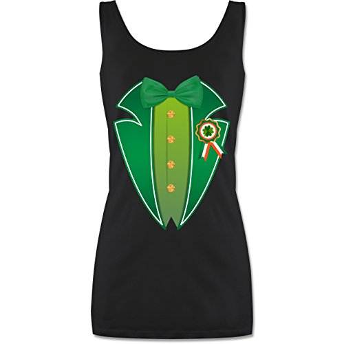 St. Patricks Day - Leprechaun Kobold Kostüm - M - Schwarz - P72 - Tanktop für Damen und Frauen Tops