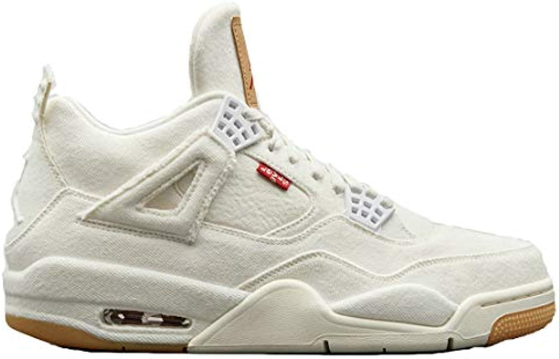 Levi'S X Air Jordan 4 Retro White Denim A02571 001 White Zapatos De Baloncesto para Hombre -