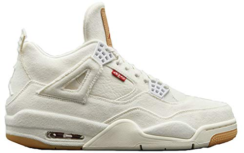 Levi'S X Air Jordan 4 Retro White Denim A02571 001 White Zapatos De Baloncesto para Hombre