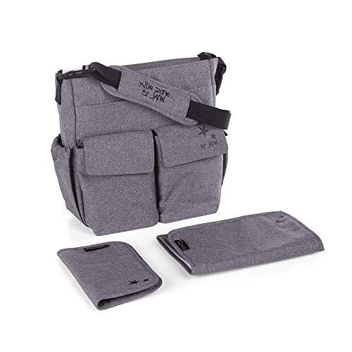 Janè Bolso cambiador Mama Bag Jet Black gris