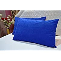 Trance Home Linen Cotton 200 TC Pillow Case, 17 x 25 Inch, Blue