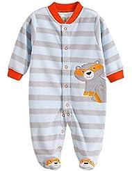 Grenouillere Barboteuse Bebe Unisexe Pyjama imprime rayure/pois/animal
