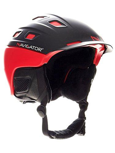 NAVIGATOR PARROT Ski-Helm und Snowboardhelm mit TÜV und CE-zertifiziert, dank innovativer Kombination aus ABS und Inmould Technologie hat dieser Helm weniger Gewicht bei bleibender Sicherheit, ROT, M-XL