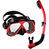 Diving Mask 180view Panoramic Snorkel ,Anti-fog Waterproof Mask,unisex Adjustable Head Straps diving MaskBreathe lySee Larger Viewing Area