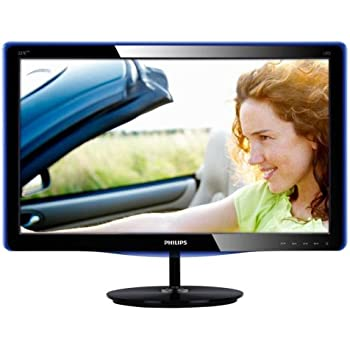 Philips 227E3LHSU 54,6 cm (21,5 Zoll) LCD-Monitor (VGA, DVI, HDMI, 5ms Reaktionszeit, EEK: B) schwarz-blau