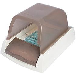 PetSafe - Bac à Litière Autonettoyante ScoopFree Ultra pour Chat Avec Couvercle - Neutralisation des Odeurs / Litière Très Absorbante