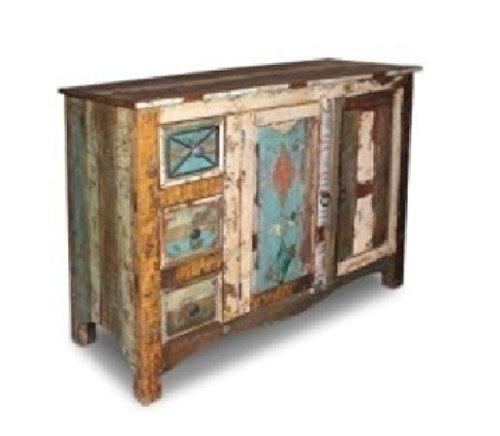 mueble aparador,vitrina consola vintage de madera maciza de mango