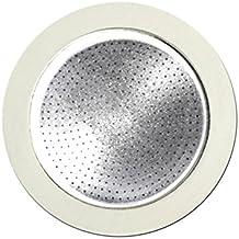 Bialetti–0800403–Filtro para cafetera italiana–acero inoxidable color blanco–19x 12,5x 0,2cm