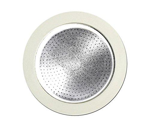 Bialetti Musa Edelstahl (Bialetti 0800403 Filter für Espressokocher Edelstahl/weiß, 19x 12,5x 0,2cm)