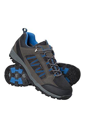 Mountain Warehouse Path Herren Wanderschuhe - Wasserdichte Fitnessschuhe, Hohe Feuchtigkeitsregulierung, atmungsaktive Laufschuhe, Mesh-Futter und hoher Grip Dunkelgrau 43