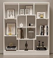 Libreria flessibile - a portata di mano per molte aree di vita Questo rack chic è flessibile e funzionale, e offre spazio di archiviazione per molte aree di vita. I 135 x 155 x 22 cm (L x H x P) grande replica libreria in legnoin diverse comb...