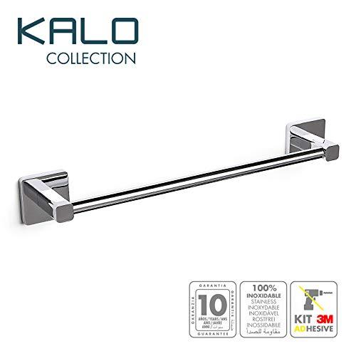 PracticDomus Tatay KALO, Toallero Barra Zamak Cromado con Fijación Adhesiva 3M de Gran Resistencia. Allen Incluida