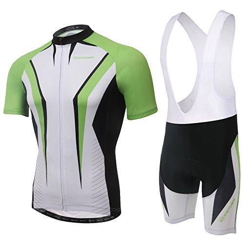 (SpozFashion TeyxoCo Herren Green Arrow Radsport Bekleidung Gel Pad Bid Jersey Set XXXL)
