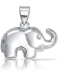 Bling Jewelry Plata Esterlina Patriótico amuleto de la Buena uerte Feliz Colgante Elefante