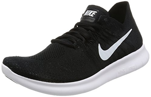 on sale a8f04 6833a Nike Free Run Flyknit 2017, Women s Training Shoes, Black (Black White Black