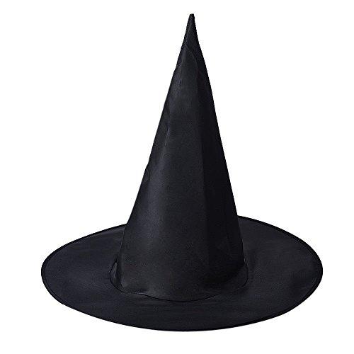 Zauberin Zubehör Kostüm - MAXGOODS 2 STK Zauberin Spitzer Hut Frauen Schwarzer Hexenhut für Halloween Kostüm Party Zubehör