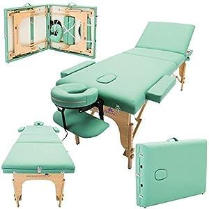 Massage Imperial® – tragbare Profi-Massageliege Chalfont – leicht 16kg – 3-teilig – hellgrün
