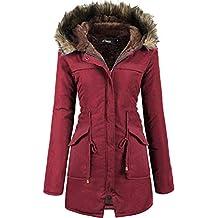 lowest price 0b117 ed0e3 Suchergebnis auf Amazon.de für: Winterjacke Damen Weinrot