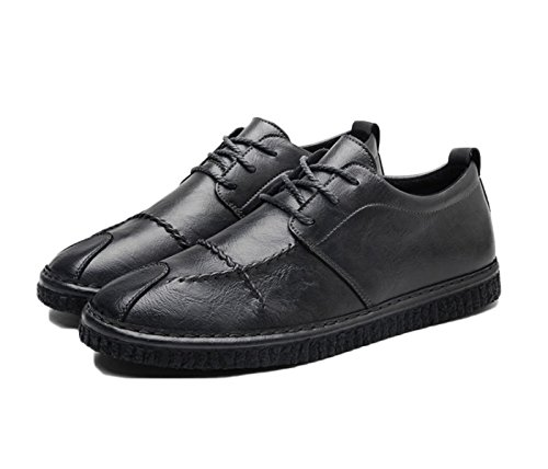 eb0580e429c1b2 2018 Nouveau Printemps Hommes En Cuir Marron Branché Mode Hommes Casual  Chaussures Derby Oxford Chaussures Grey