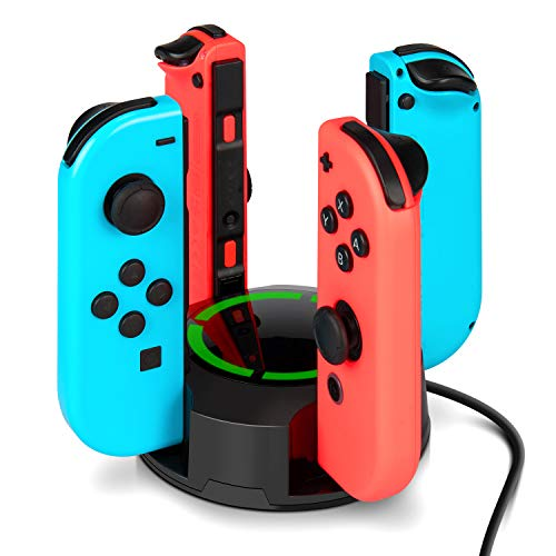 Gut Lad Grün (Ladestation für Nintendo Switch Joy-Con, NesBull Switch Joy-Con 4 in 1 Ladestation mit LED-Anzeige)