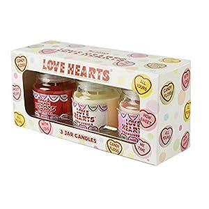 Swizzels Love Hearts Duft Kerzen (3Jar Geschenk-Set)