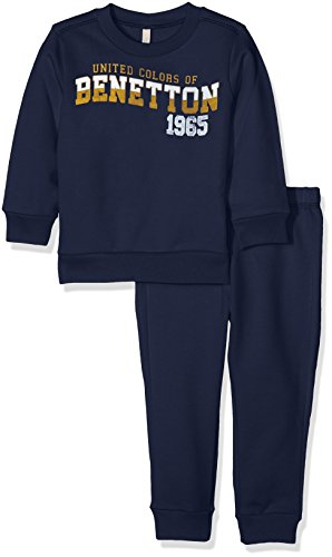 united-colors-of-benetton-jungen-sweatshirt-set-sweater-trousers-blau-navy-4-5-jahre-herstellergross