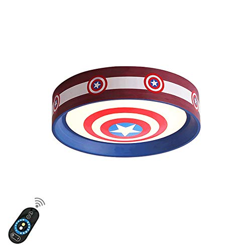 Mando A Distancia Regulable Capitán América Lámpara De Habitación Infantil Luz De Techo Lámpara De Dormitorio Moderna Y Simple Para Niños Lámpara De Habitación Americana De Dibujos Animados,52cm